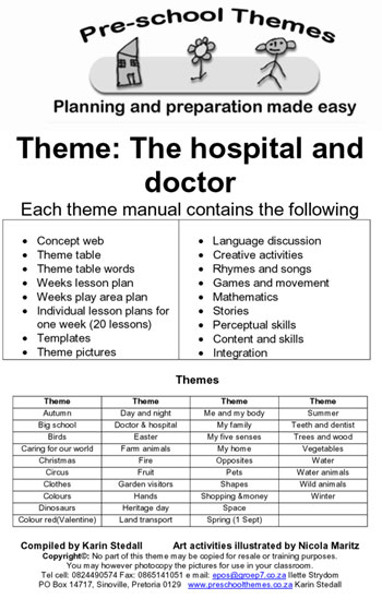 Preschool Themes Example Lesson Plans For South African Teachers - Lesson plan template for preschool